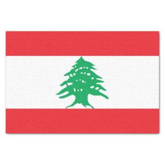 Patriotic tissue paper with flag of Lebanon