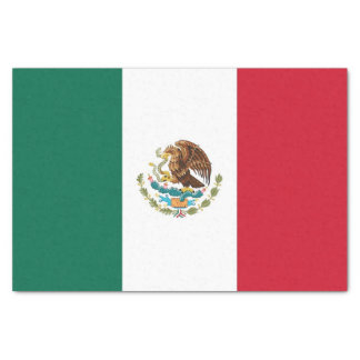 Patriotic tissue paper with flag of Mexico