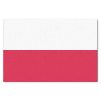 Patriotic tissue paper with flag of Poland