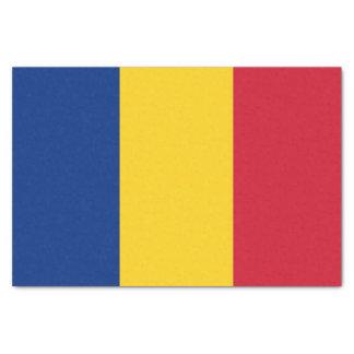 Patriotic tissue paper with flag of Romania