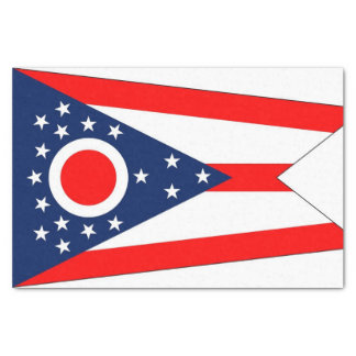 Patriotic tissue paper with flag Ohio