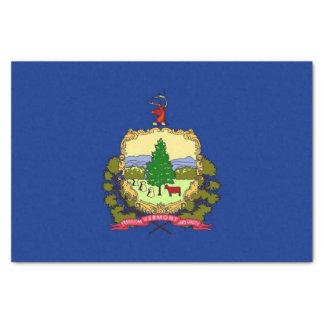 Patriotic tissue paper with flag Vermont, USA