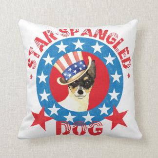 Patriotic Toy Fox Terrier Cushion