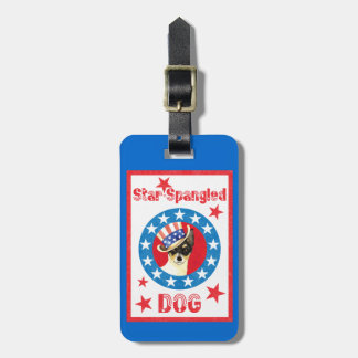 Patriotic Toy Fox Terrier Luggage Tag
