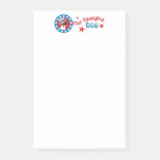 Patriotic Toy Fox Terrier Post-it Notes