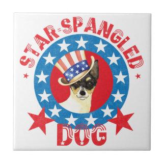 Patriotic Toy Fox Terrier Tile