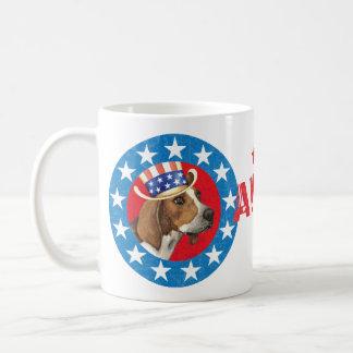 Patriotic Treeing Walker Basic White Mug