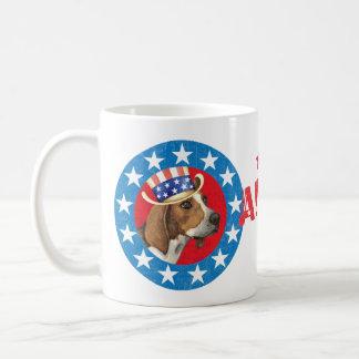 Patriotic Treeing Walker Coffee Mug