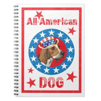 Patriotic Treeing Walker Note Book