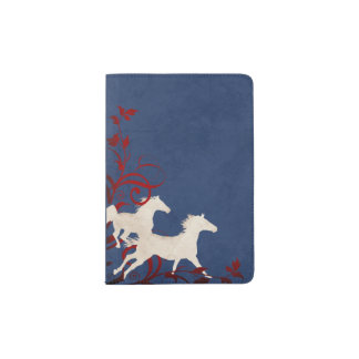 Patriotic Trotting Horses Pattern Passport Holder