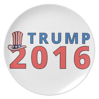 Patriotic Trump 16 Presidential Party Plate