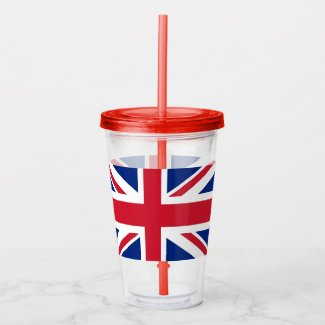 Patriotic Tumbler with flag of United Kingdom