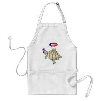 Patriotic turtle and snail apron! standard apron