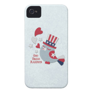 Patriotic Tweets Red White and Blue Bird iPhone 4 Cover