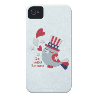 Patriotic Tweets Red White and Blue Bird iPhone 4 Case-Mate Case