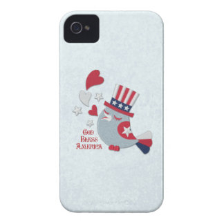 Patriotic Tweets Red White and Blue Bird iPhone 4 Case-Mate Cases