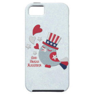 Patriotic Tweets Red White and Blue Bird iPhone 5 Case