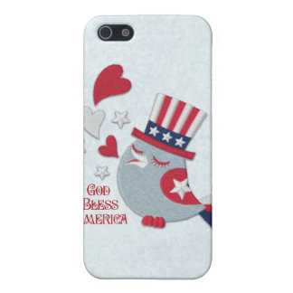 Patriotic Tweets Red White and Blue Bird iPhone 5 Cases