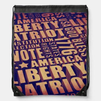 Patriotic Typography Backpacks