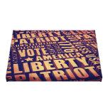 Patriotic Typography Gallery Wrap Canvas