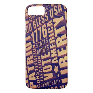Patriotic Typography iPhone 7 Case
