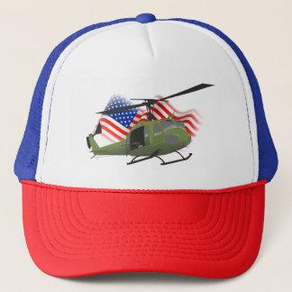 Patriotic UH-1 Huey Trucker Hat