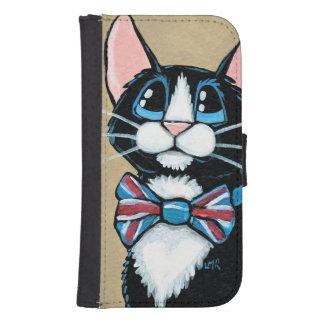 Patriotic UK Tuxedo Cat wearing Bow Tie Painting