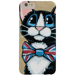 Patriotic UK Tuxedo Cat wearing Bow Tie Painting Barely There iPhone 6 Plus Case