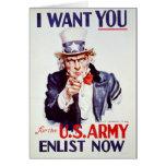 Patriotic Uncle Sam - Vintage Poster Cards