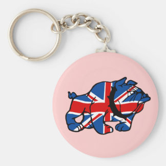 Patriotic Union Jack Basic Round Button Key Ring