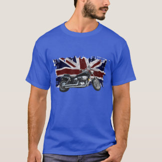 Patriotic Union Jack, UK Union Flag, Motorcycle T-Shirt