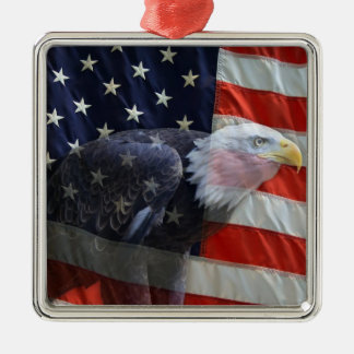 Patriotic US Flag Eagle Ornament
