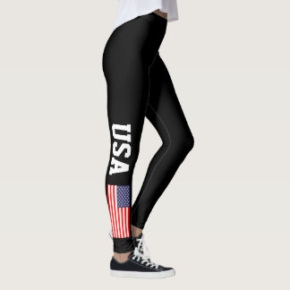 Patriotic USA American flag custom color leggings