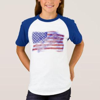 Patriotic USA American Flag Girls T-Shirt