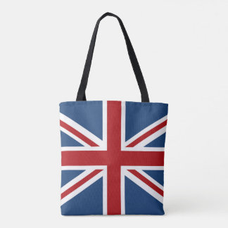 Patriotic USA and UK Flags Tote Bag