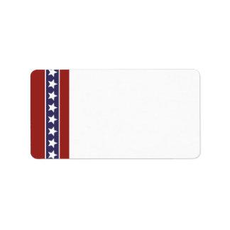 Patriotic USA Blank Address Label