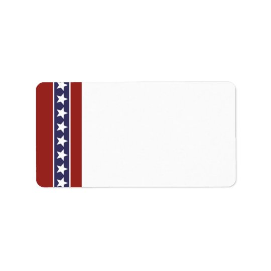 Patriotic USA Blank Address Label