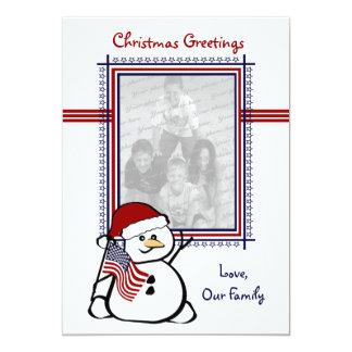 Patriotic USA Christmas Card