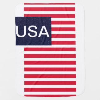 Patriotic USA CricketDiane American Flag Baby Buggy Blanket
