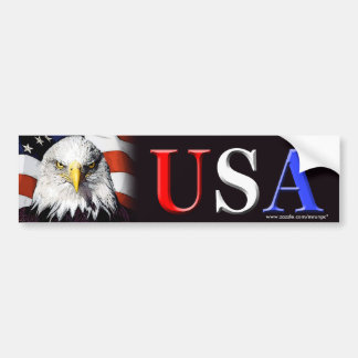"""Patriotic """"USA Eagle"""" bumper sticker"""