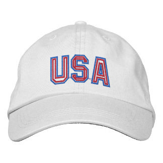 Patriotic USA Embroidered Hats