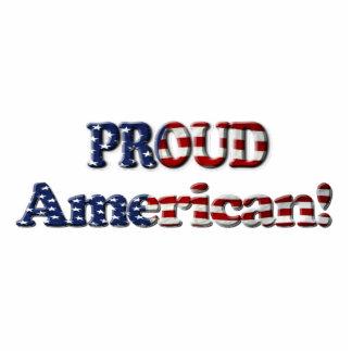 Patriotic USA Flag Magnet (Sculpted) Photo Sculpture Magnet