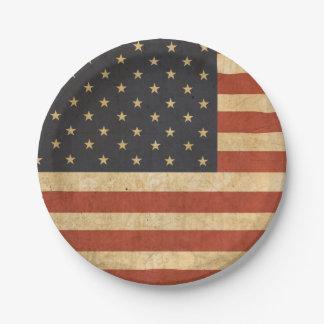 Patriotic USA Flag Paper Plate