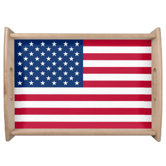 Patriotic USA Flag Serving Tray