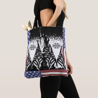 Patriotic USA Flag Statue of Liberty Tote Bag