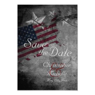 Patriotic USA Flag with Stars Save the Date 9 Cm X 13 Cm Invitation Card