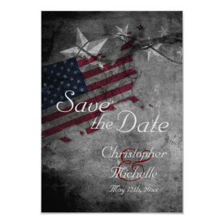 Patriotic USA Flag with Stars Save the Date 9 Cm X 13 Cm Invitation Card