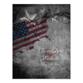 Patriotic USA Flag with Stars Wedding Invitation