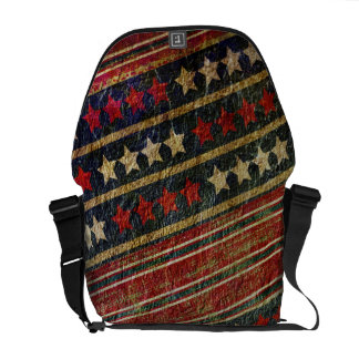 Patriotic USA Grunge Stars and Stripes Military Courier Bag