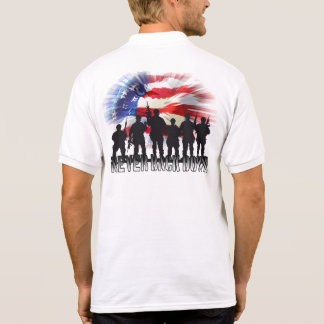 Patriotic USA Never Back Down Polo T-shirts